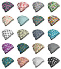 Ambesonne Floral Pastel Unisex Beanie for Hiking Trekking Outdoor Clothing