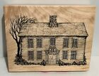 PSX CABIN House Victorian K 1648 Wood Rubber Stamp