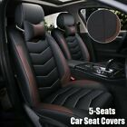 PU Leather 5-Seats SUV Front & Rear Universal Car Seat Cover Cushion Full Set