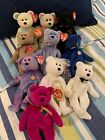Lot of 10 TY Beanie Babies, NWT: Millennium, Mr and Mrs, Clubby I, II, and IV
