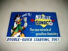 REPRODUCTION VINTAGE NU BLUE SUNOCO DONALD DUCK  ADVERTISING METAL OIL SIGN!