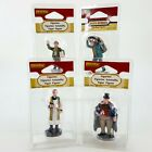 Lemax Village Collection 4pc Figure LOT Dock Worker Priest Newspaper Boy Man NEW
