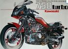 KAWASAKI Z750 TURBO factory cutaway poster ' superbike no one else could build '