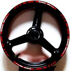 REFLECTIVE RED WHIT GP STYLE RIM STRIPES WHEEL DECALS TAPE STICKERS SUZUKI SV650