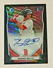 2014 Bowman Chrome Mookie Betts Rookie Auto Refractor RC 50 Black Wave = GOLD!$