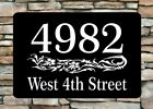 Personalized Home Address Sign Aluminum 12 x 8 Custom House Number Plaque sq13