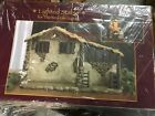 Christmas Nativity Lighted Stable Manger Figurine 10 inch Scale