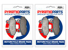 Front Brake Pads (2 Pairs) for Hyosung GT 125 R Supersport 2007