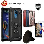 For LG Stylo 5 5V 5x 5 Plus Case Cover+Screen Protector +Car Air Vent Holder