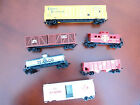 6 ASSRT HO SIZE LIFE-LIKE MODEL TRAIN CARS NORFOLK ILLINOIS ERIE TEXACO C