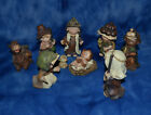 VINTAGE 9 PIECE NATIVITY SET CHILD FIGURINES SET RESIN