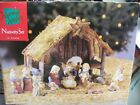 Nativity Set Large Christmas Jesus baby manger 13 Pieces FREE shipping