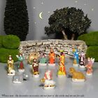 Vintage French Provence Feves Miniature Creche 15 Santons Nativity Figurines