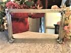 Gorgeous Vintage Murano Twisted Rope Glass Mirror Venetian Tray