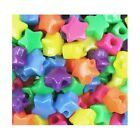 Wholesale Mixed Colour Acrylic Beads Puffy Star 12mm 10 Packs Of 150+