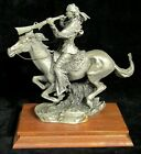 1993 Chilmark Fine Pewter Buffalo Hunter Native American Figurine by McGrory