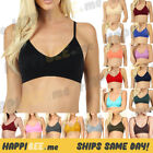 V Neck Padded Bralette Sports Bra Crop Top Criss Cross Cleavage Sexy Gym Workout