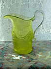 Pitcher Yellow Vaseline Glass MMA 1970 Imperial Glass Co Bellflower