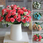 Artificial Floral Rose Bouquet Silk Fake Flowers Wedding Party Home Decorate US