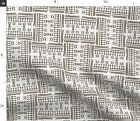 African Pattern Ethnic Native Simple Naive Fabric Printed by Spoonflower BTY