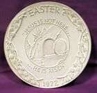 FRANKOMA 1972 EASTER PLATE - Jesus Is Not Here He Is Risen Oral Roberts Religion