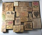 Over 40 Stamps Crafters Paradise Lot Of Fun Quotes  Flowers  Spring Oh My