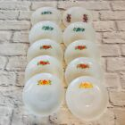 Lot of 10 FIRE KING OVEN WARE Rose Flowers Saucers M7
