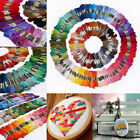 50 Multi Colors Cross Stitch Cotton Embroidery Thread Floss Sewing Skeins YMZ