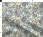 Mountain Animal Woodland Modern Animals Native Fabric Printed by Spoonflower BTY