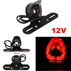 Motorcycle ATV License Plate Holder 12v LED Tail Rear Brake Bracket Light Lamp