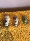 3 FRANKOMA INDIAN HEAD MASKS #132 AND 2 UNMARKED INCLUDING A MINI