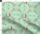 Sage Christmas Nativity Angel Holidays Manger Fabric Printed by Spoonflower BTY