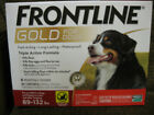 Frontline Gold Flea and Ticks Dog 89 132 lbs Red 6 Monthly Doses