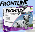 FRONTLINE Plus Flea and Tick Treatment for Large Dogs 45 88 lbs 6 Doses