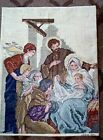 NEEDLEPOINT CROSS STITCH NATIVITY SCENE JESUS MARY JOSEPH AND THE WISE MEN