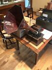 USED Edison Fireside Phonograph MODEL A 1909 withHorn+Lid and around 85Cylinders