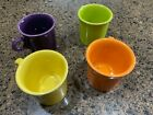 NEW!!HLC Fiestaware  Coffee Mug Set of 4 Tom Jerry Ring Handle (H)