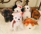 TY BEANIE BABIES - ALL DOGS COLLECTION - 2001 - LOT OF 6 - Herder, Sampson, Etc.