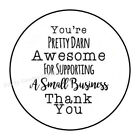THANK YOU FOR SUPPORTING MY SMALL BUSINESS ENVELOPE SEALS LABELS STICKERS 15