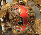 JAY STRONGWATER Red Large Globe Ornament W/ Swavorski Crystals 2002