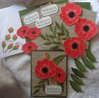 Stampin Up Card Kit POPPY PEACEFUL MOMENTS Poppies Floral Thinking of You NEW