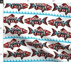 Chinook Salmon Spirit Fish Native Tribal Fabric Printed by Spoonflower BTY