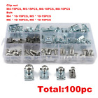 100x Fairing Bodywork Panel U Clips Motorcycle U Nut Speed Fasteners M4 M5 M6 M8