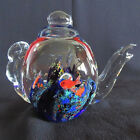 Blown Glass Teapot paperweight Dynasty Gallery Heirloom Collectible