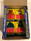 Return of the Jedi 1983 Topps ROTJ Series 1 Unopened Wax Pack Set (4) Variations