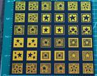 ProFusion etched dichroic glass COE 90 thin black CBS cyan copper Stars 4x4