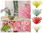 Artificial Orchid Silk Fake Flowers Faux Dancing Lady Orchids Stems Flower10 Pcs