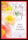 016 GC Flower For My Wife Birthday Greeting Card Rose Pink Accent Hallmark