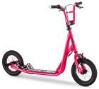 Kids Freestyle BMX Brake Rotor Scooter w 12 Inflatable Air Tires Expo Pink