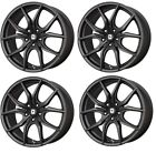 Drag DR 67 Wheels 18x8 5x108 Black Rims for Ford Focus C Max Edge Fusion Taurus